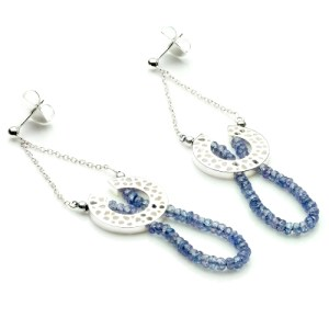 Rachel Galley Tanzanite (11.90 Ct) Sterling Silver Earring