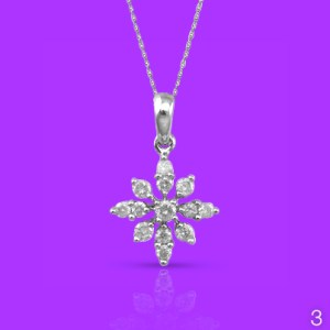 Diamond starburst necklace and chain