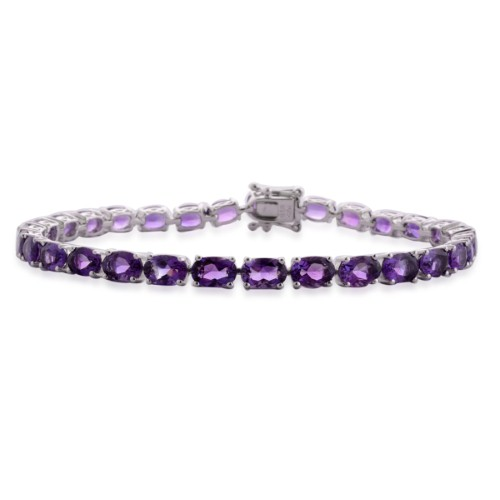 Go for a slightly warmer style with purple stones