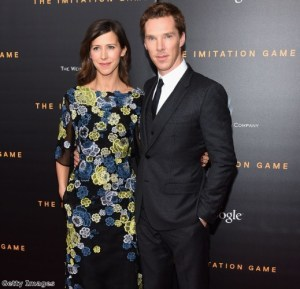 Benedict popped the question to his girlfriend of one year