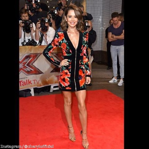 Cheryl Fernandez-Versini wows in floral dress