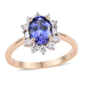 Iliana AAA Tanzanite and Diamond Ring