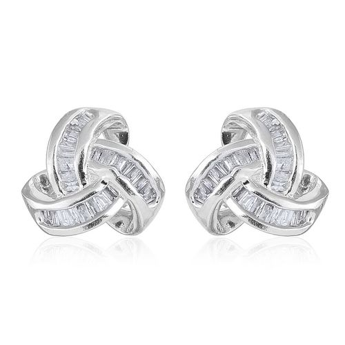 TJC triple knot stud earrings