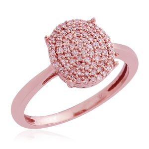 Natural Pink Diamond Ring in 9K Rose Gold