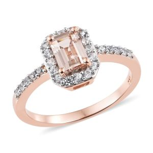 Marropino Morganite, Natural Cambodian Zircon Ring