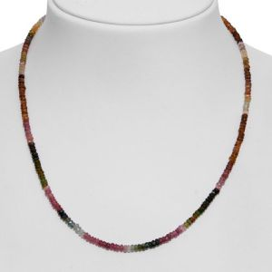 Multi-Tourmaline Beads Necklace