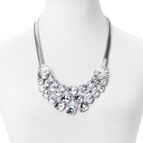 Simulated White Diamond BIB Necklace
