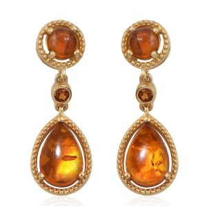 Citrine earrings in winter stones