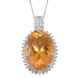 Citrine pendant in winter stones