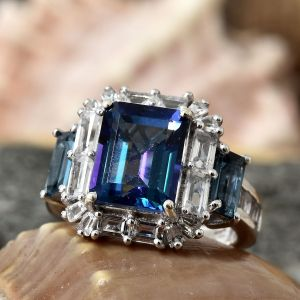 Colours of topaz - Mystic Neptune topaz ring