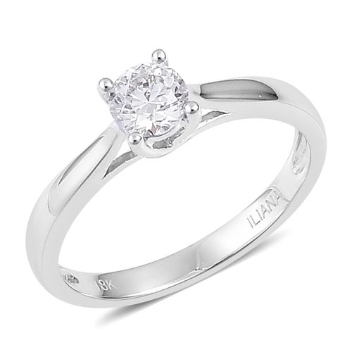 ILIANA 0.50 carat Brilliant Cut Diamond Solitaire Ring