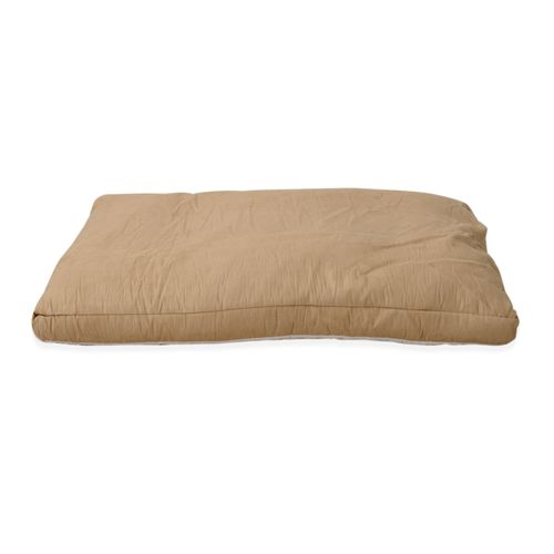 Faux Suede Dog Bed with Shredded Memory Foam Filling