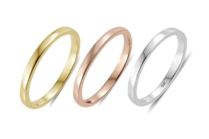 Different metal tones of perfect wedding ring