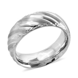 Premium Collection Royal Bali Collection 9K White Gold Band Ring Gold