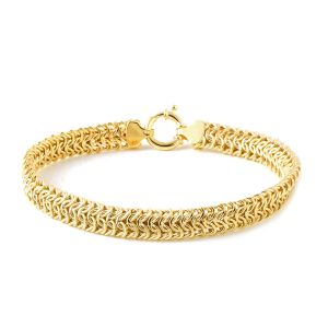 Vicenza Collection 7.5 Inch Byzantine Bracelet in 9K Gold