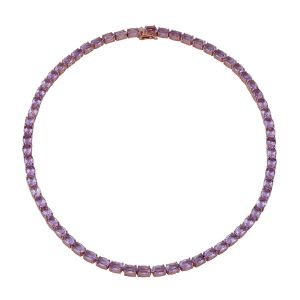 Rose De France Amethyst Tennis Necklace