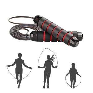 Adjustable Jump Rope - Black and Red