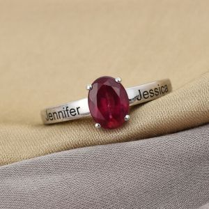 Personalise Engravable African Ruby Ring