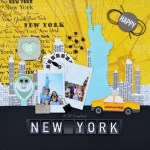 "Página de álbum decorada ""New York"""
