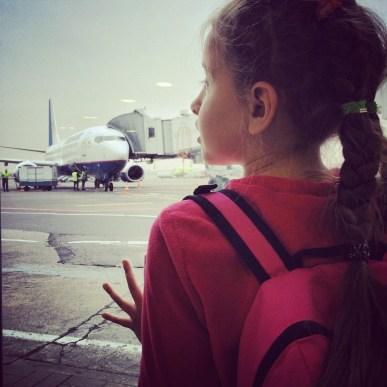 В аэропорту Домодедово дочь в первый раз в своей жизни увидела большие пассажирские самолеты так близко, и никак не могла отклеиться от окон аэропорта - и я ее прекрасно понимаю, это безумно интересно!