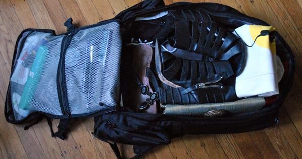 Tortuga bag packed up