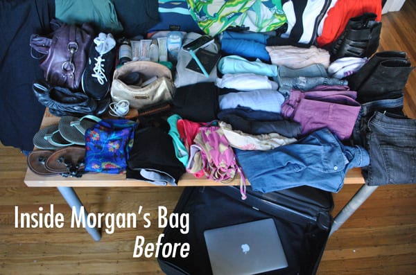 Packing makeover before