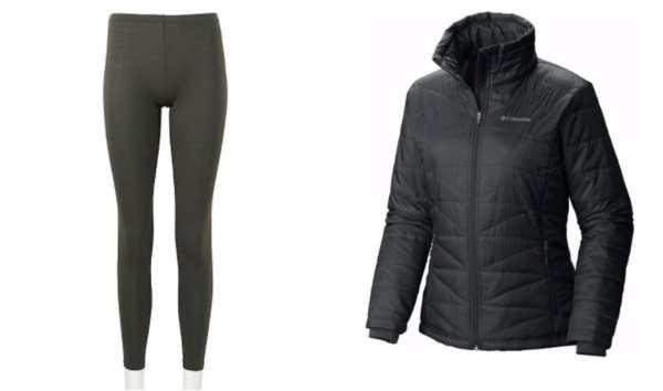 coat and leggings