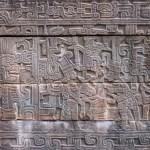 Carved stone depicting human sacrifice - El Tajin