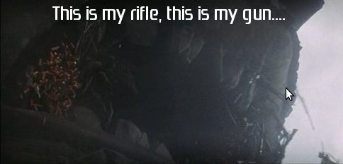 This is my rifle, this is my gun...