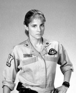 "Jessica Steen as Cpl. Jennifer ""Pilot"" Chase"