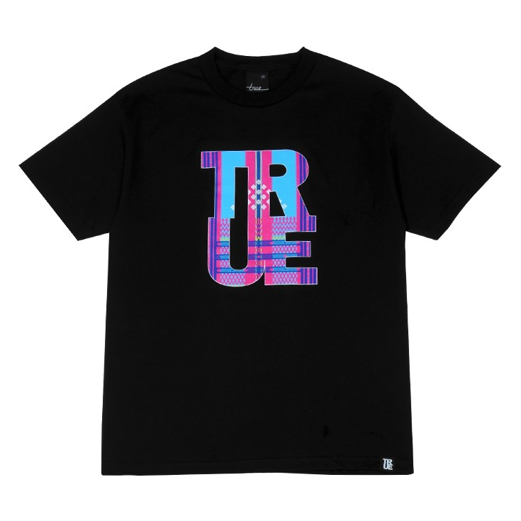 Mens True Ifugao T-Shirt Black/Pink/Teal