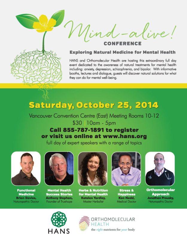 Mind-alive! Exploring Natural Medicine for Mental Health