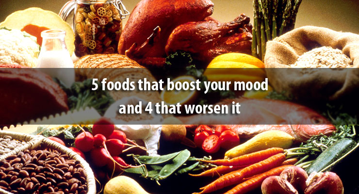 5 foods that boost your mood and 4 that worsen it