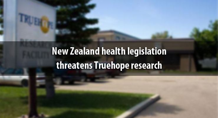 New Zealand health legislation threatens Truehope research