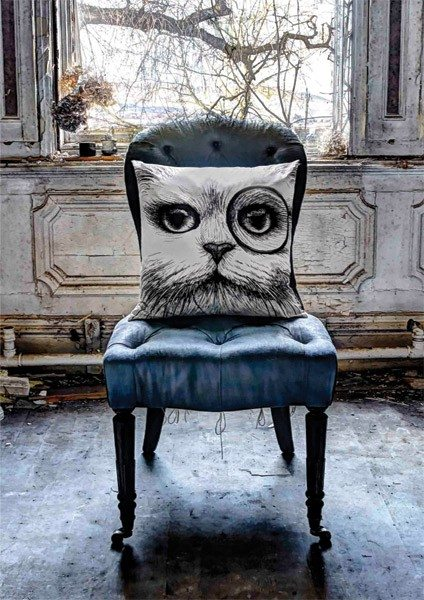 Cat with a monocle