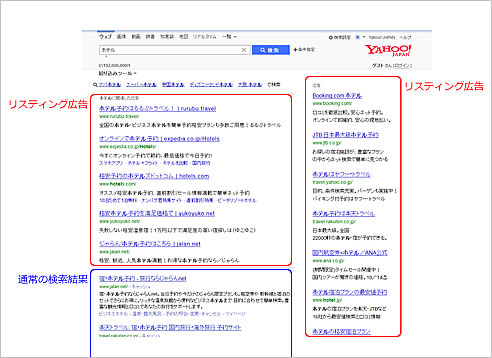 Yahoo!検索結果(リスティング広告)