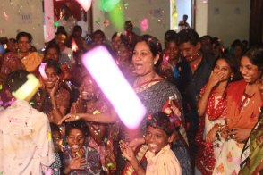 A Christmas celebration in India