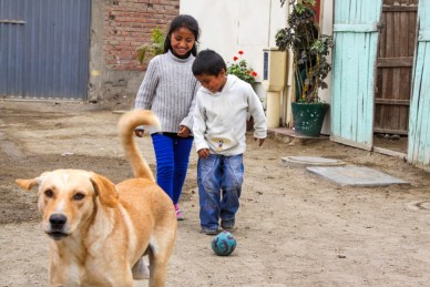 Sponsored children from Peru