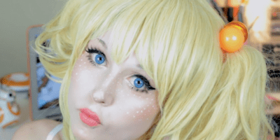 White Freckles Makeup