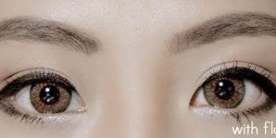 puffy brown colored contact lenses