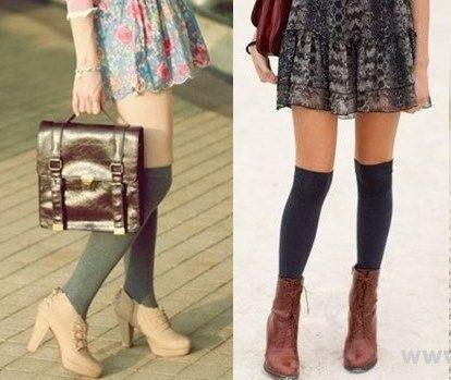 Feminine-Knee-Socks-Outfit