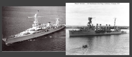 USS Marblehead (CL-12) Asiatic Fleet survivor (left) USS Houston (CA-30) sunk at Java Sea (right)