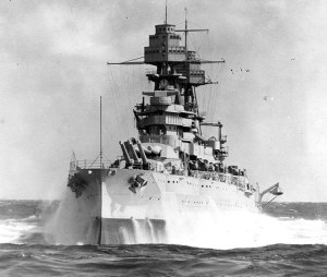 USS Arizona at sea in mid-December 1941
