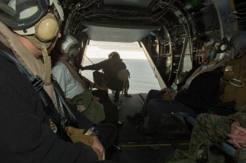 """The next stop was with the MAWTS-1 and a noisy ride in an MV-22 that a civilian would have difficulty calling """"fun"""" in tight headgear."""