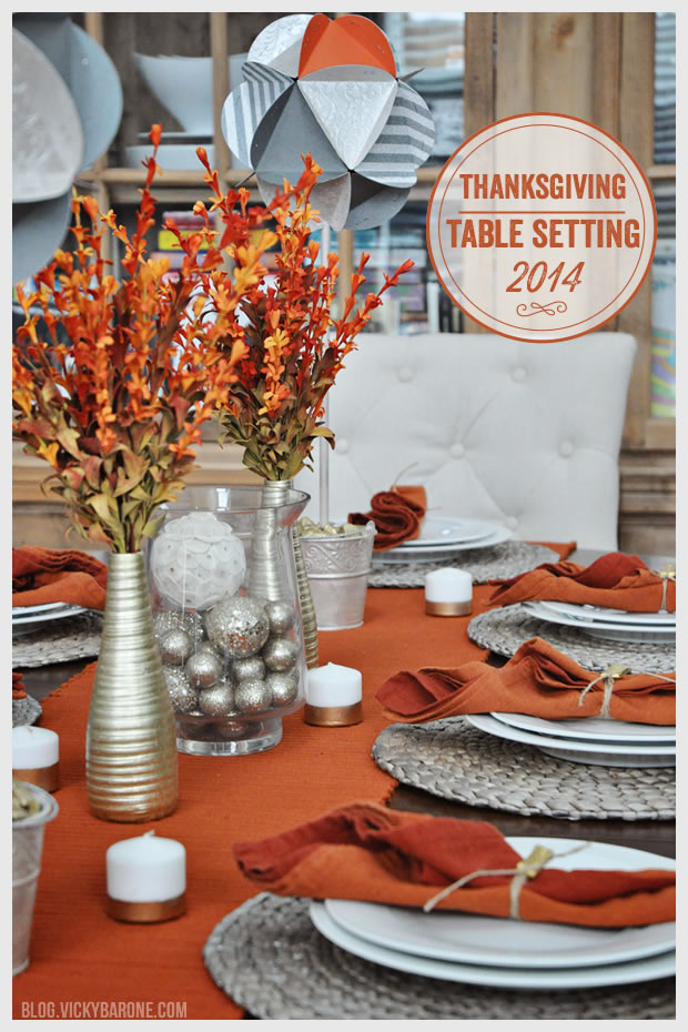 Thanksgiving Table Setting 2014 | Vicky Barone