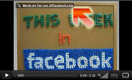 Mit 1 Klick Fan werden im Facebook-Video
