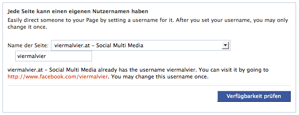 Vanity URL ändern