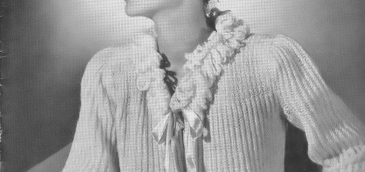 Learn to Knit or Crochet Vintage Bed Jackets morning glory