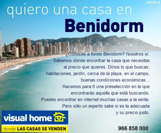 quiero una casa apartamento en la playa de benidorm