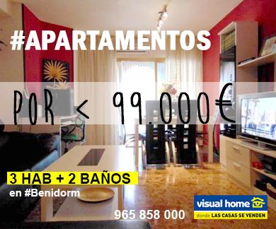Los 3 mejores Apartamentos en Benidorm < 99.000€ con 3 HAB + 2 BAÑOS